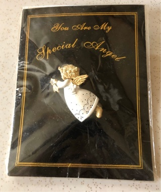 You Are My Special Angel Pin. Silver and Gold Tone New