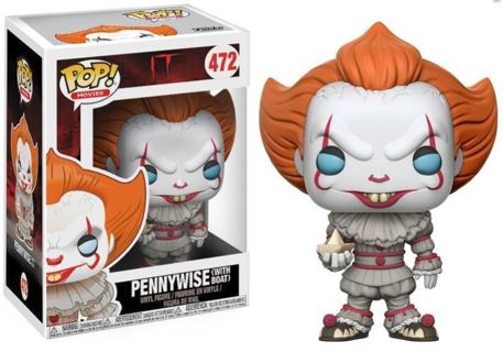 NEW Funko Pop Movies: IT-Pennywise with Boat Collectible Figure Toy FREE SHIPPING