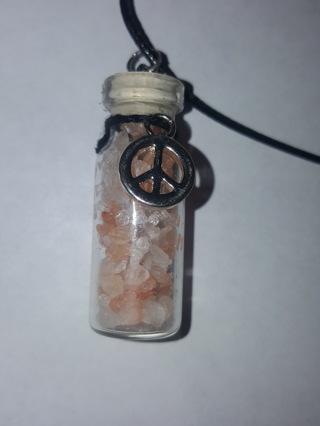 Pink Himalayan Salt Necklace