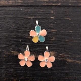 3 Bling Flower Charms