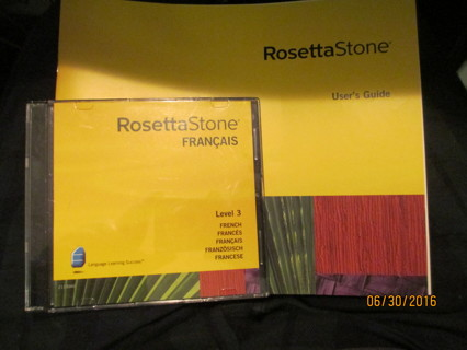 Free: Rosetta Stone, French - Software - Listia com Auctions