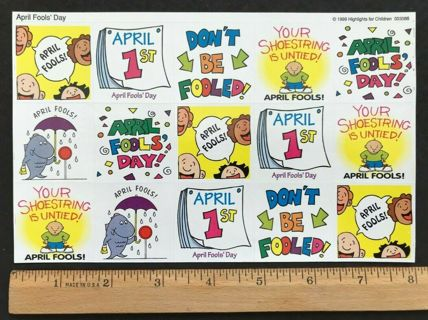 April Fools' Day Sticker Sheet by Highlights for Children, 1999