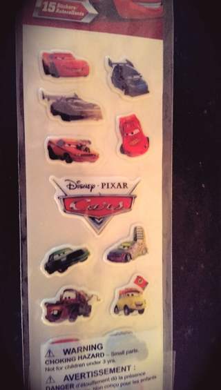 Disney Pixar CARS Stickers NIP