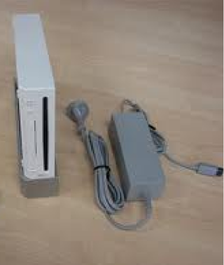 Wii Console with power cord GIN BONUS