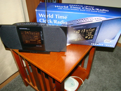 Free Sharper Image World Time Clock Radio Noaa Sound Soother