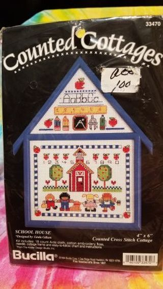 BNIP COUNTED COTTAGE SCHOOL HOUSE KIT