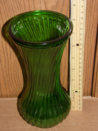Free Hossier Glass Contage Large Dark Green Depression Glass