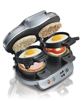 1 NEW Hamilton Beach Dual Breakfast Sandwich Maker Kitchen Home FREE SHIPPING