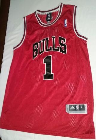 sale retailer 87741 bef74 Free: Adidas Derrick Rose Chicago Bulls Jersey Size Large ...