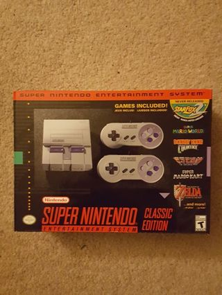 SNES Super NES classic game console brand new