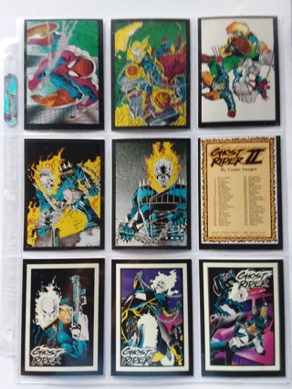 Lot of 9 Different Marvel Comics GHOST RIDER II Trading Cards in Ultra Pro Protector
