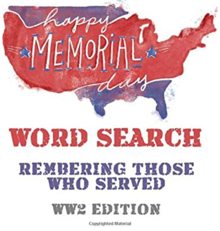 DISCOUNT! Memorial Day Word Search (WW2 Edition)