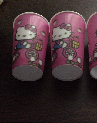 Set of 3 Hello Kitty Plastic Cups