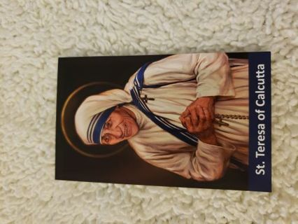 Saint mother Theresa of Calcutta prayer card