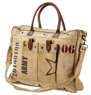 Brand New Army Stamp Handmade Handbag Purse Bag Rustic Authentic Unique Style With Leather
