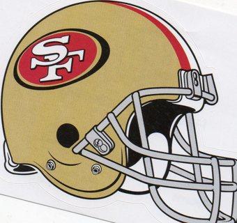 2017 NFL 4x3 Team Helmet Sticker: San Francisco 49ers
