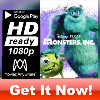 MONSTERS, INC. HD GOOGLE PLAY CODE ONLY