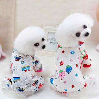 Cute Pet Pajamas Warm Dog Jumpsuits Small Dog Clothing Puppy Cat Clothes Apperal