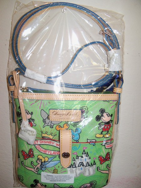 Free Dooney Amp Bourke Disney Sketch Crossbody Bag Purse Green Mickey Mouse Tinkerbell Other
