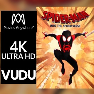 SPIDER-MAN: INTO THE SPIDER-VERSE 4K MOVIES ANYWHERE OR VUDU CODE ONLY