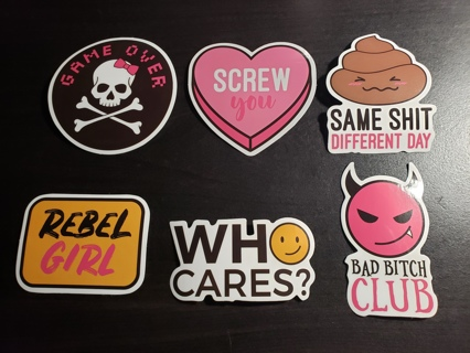 Bad Girl | Sticker Lot | Skateboard | Stickers