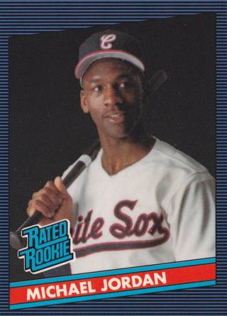 Free Michael Jordan Rated Rookie Card 1986 Donruss Baseball