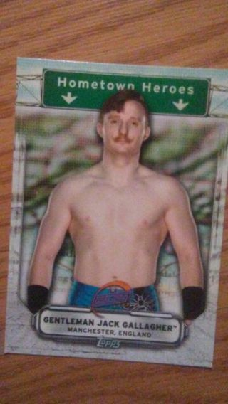 WWE 2019 Gentlemen Jack Gallagher Hometown Heroes Special Insert Card