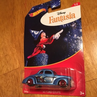 """Hot Wheels - '40 Ford Coupe """"Disney Fantasia"""" (Mickey Mouse 5/8)"""