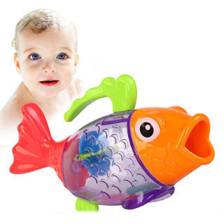 Sprinkler Shower Measure Temperature Discoloration Fish Kids Baby Bath Swim Toy