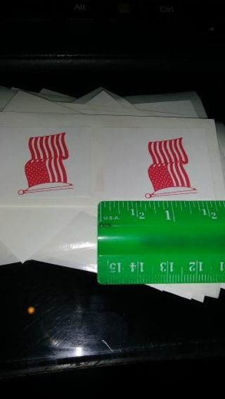FLAG STICKERS- 30- for your paper crafts