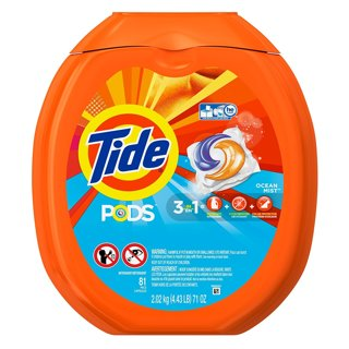 NEW Tide PODS Ocean Mist HE Turbo Laundry Detergent Pacs (81) Count - Load Tub
