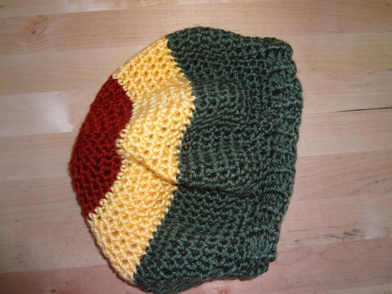 Free Crochet Pattern For Rasta Hat : Free: Rasta Slouchy Hat - Bob Marley Dread Hat - Tam ...