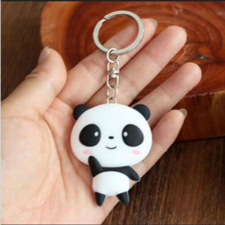 Cute Silicone Panda Cartoon Keychain Keyring Bag Pendant