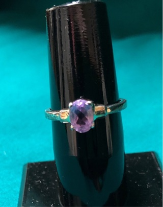 Sterling Silver Amethyst Ring - Size 6.5