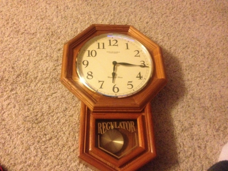 Free Sterling Amp Noble Chiming Regulator Wall Clock With