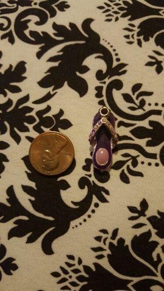 Purple Flip Flop Charm