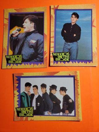 3 NKOTB 1989 Cards