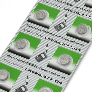 10Pcs AG4 377A 377 LR626 SR626SW SR66 LR66 Alkaline Button Cell Watch Battery