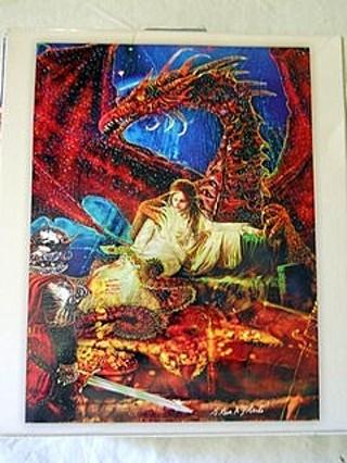 Free Mystical Shimmer Glitter Puzzle Fantasy Art Dragon
