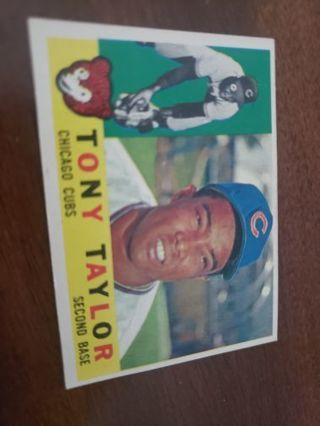 1960 Tony Taylor Chicago Cubs vintage baseball card