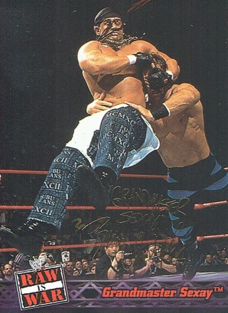 WWE WWF RAW Is WAR Fleer 2001 Collectible Facsimile Autograph Card #35 Grandmaster Sexay