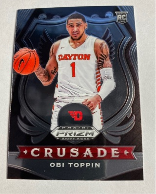 Obi Toppin 2020 Panini Prizm Draft Picks Crusade Rookie Card RC #87