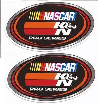 TWO (2) NEW K&N NASCAR PRO SERIES RACING STICKERS