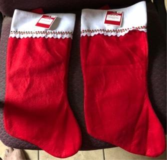 Set of 2 Christmas Stockings, NWT