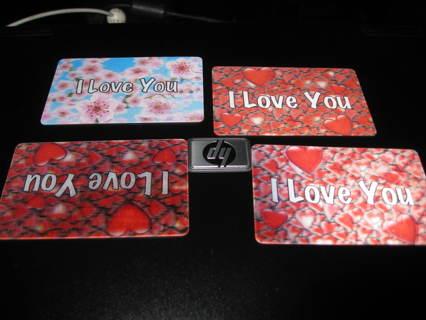 LOVE shared in a permenant card