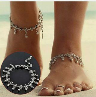 Women Anklet Silver Bead Chain Ankle Bracelet Barefoot Sandal Beach Foot