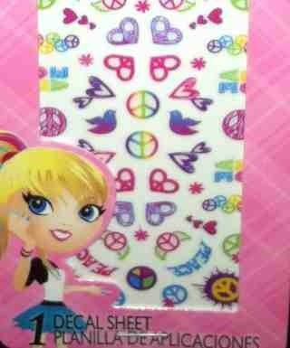 """""""Groovy PEACE & LOVE"""" Nail Decals by Girlie Nails"""