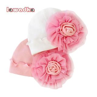 100%Cotton Floral Baby Hat Girls Infant Hats Photography Props Beanies Newborn Princess Style Baby