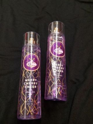 Bath & Body Works May Cherry Cheer Fine Fragrance Mist x2 8floz