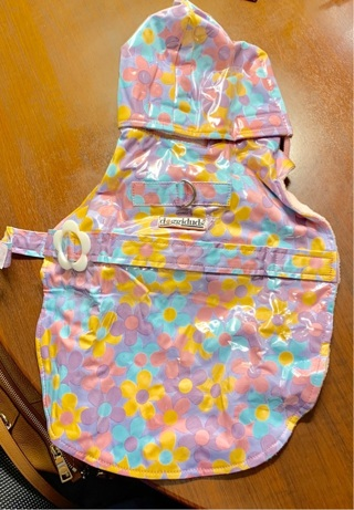 Rare & Hard-To-Find Doggy Duds Flowery Weatherized Raincoat for a Girl Dog Size Small